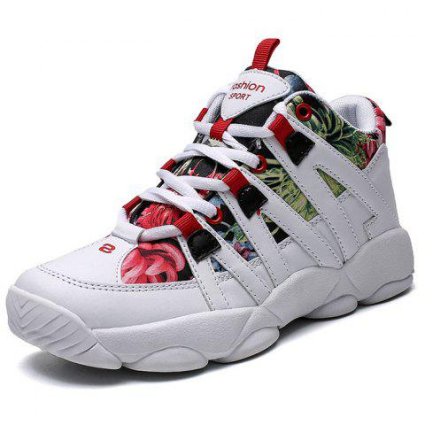 Female Durable Winter Warm Casual Shoes - RED EU 36