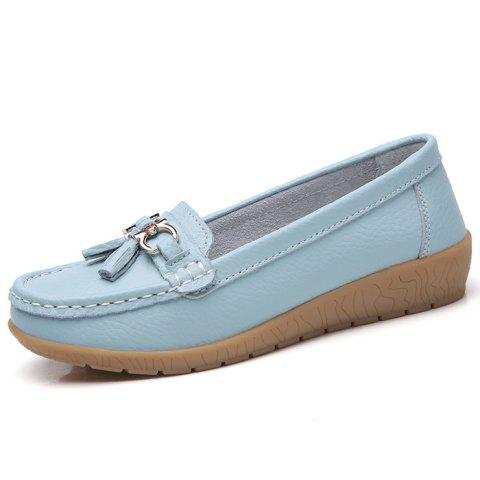 Female Wild Soft Warm Peas Shoes - LIGHT SKY BLUE EU 42