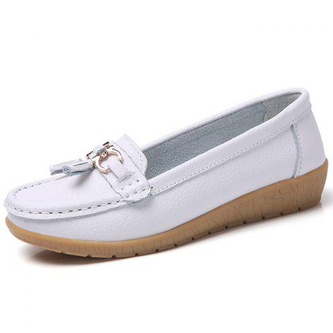 Female Wild Soft Warm Peas Shoes - WHITE EU 37