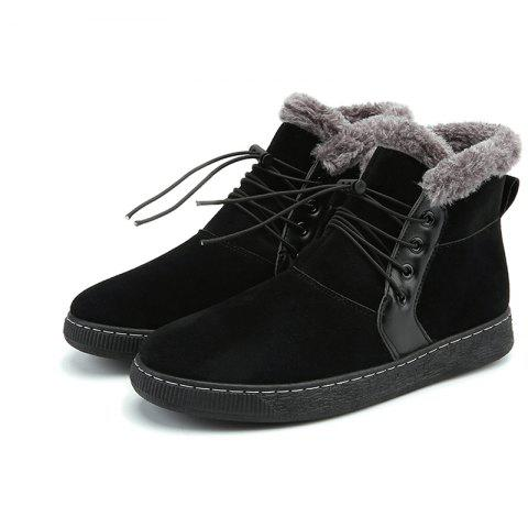Fashion Cotton Shoes Snow Boots - BLACK EU 42
