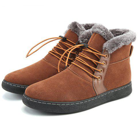 Fashion Cotton Shoes Snow Boots - BROWN EU 44