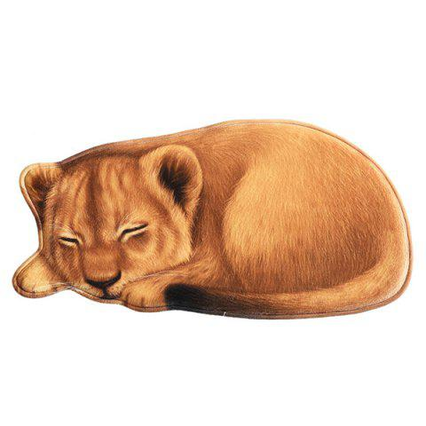 3D Winking Cat Tiger Lion Leopard Carpet Home Bedroom Mat - multicolor 03
