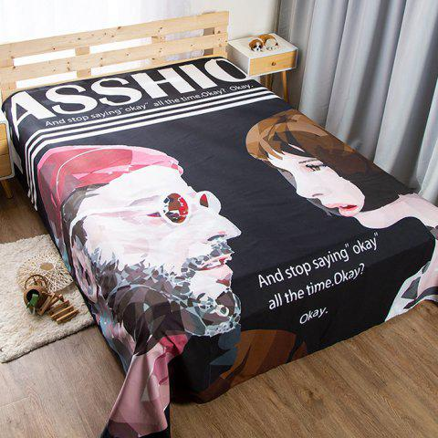 Stylish Student Dormitory Personality Weird Sheet Single Piece 120 x 220cm - multicolor C
