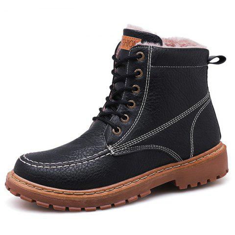 Men's Boots Outdoor High-top Leather - BLACK EU 40