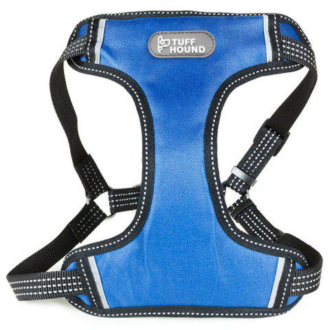 TUFFHOUND A1619 Explosion-proof Punching Night Reflective Safety Blue Dog Chest Strap - LIGHT SLATE BLUE L