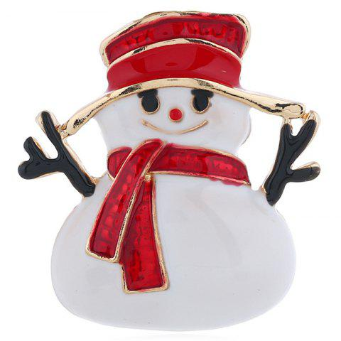 Fashion Cartoon Christmas Snowman Brooch Wild Christmas Gift - multicolor A