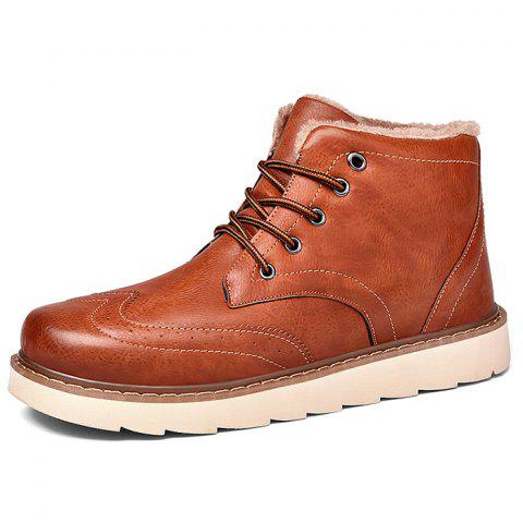 817 Autumn And Winter Men Boots - BROWN EU 43