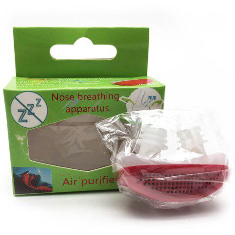 Stop Snoring Device for Healthy Sleep - ROSE RED 1PC