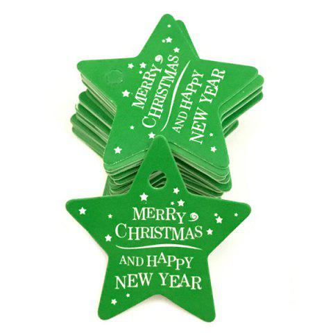 Christmas Baking Card Tag 100pcs - GREEN APPLE PENTAGRAM