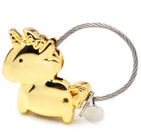 Couple Keychain Magnet Unicorn Creative Metal Cute Gift - GOLD