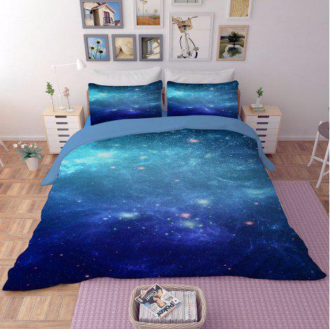 Home Textile Nebula Star Quilt Cover Bedding Bed Sheet - multicolor C