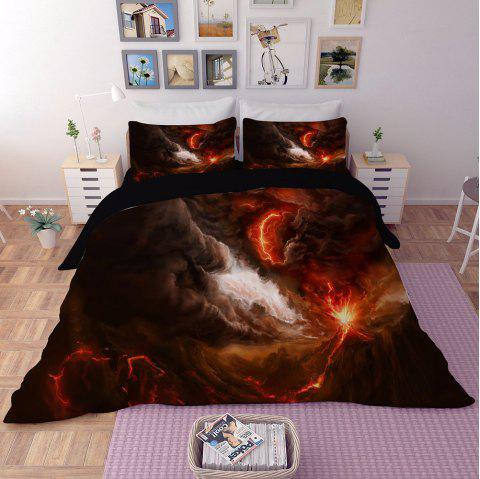 Home Textile Nebula Star Quilt Cover Bedding Bed Sheet - multicolor D