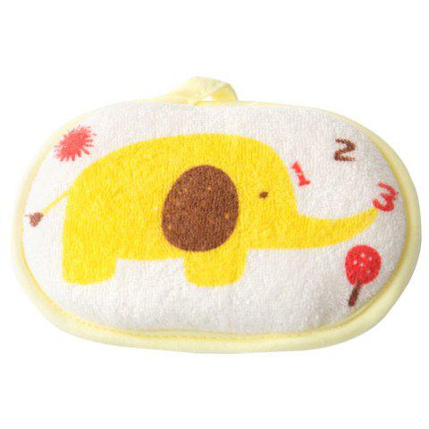 Cotton Sponge Baby Bath Towel - YELLOW