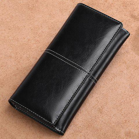SENDEFN 5159 Long Zipper Leather Ladies Wallet - BLACK