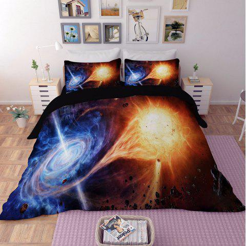 Home Textile Star Quilt Cover Bedding Bed Sheet - multicolor C