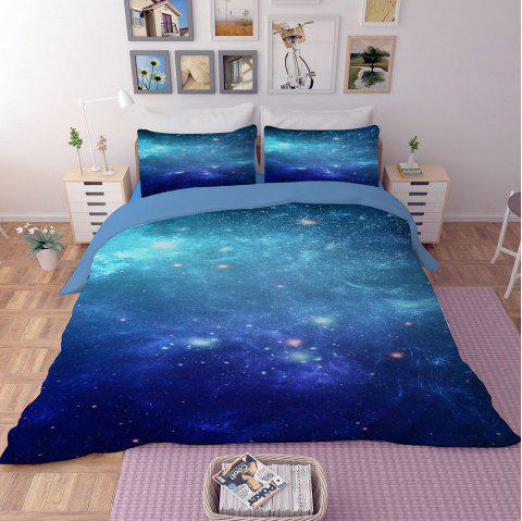 Home Textile Nebula Star Beddings 1.8m Bed Sheet 4pcs - multicolor B