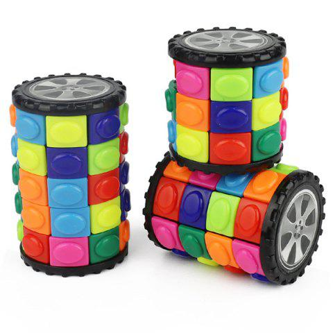 Magic Tower Decompression Cube Three-dimensional Puzzle Educational Toys - multicolor