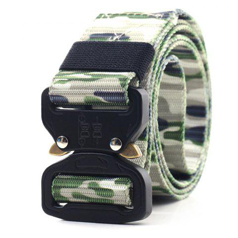 Nylon Camouflage Canvas Belt Student Military Training Pants Strap 120cm - CAMOUFLAGE GREEN