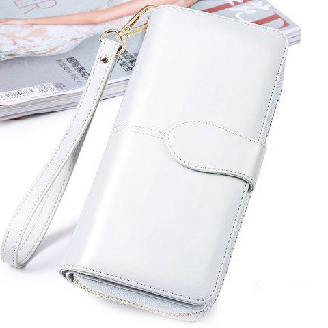 SENDEFN Long Multi-card Leather Clip Large Capacity Wallet - PLATINUM