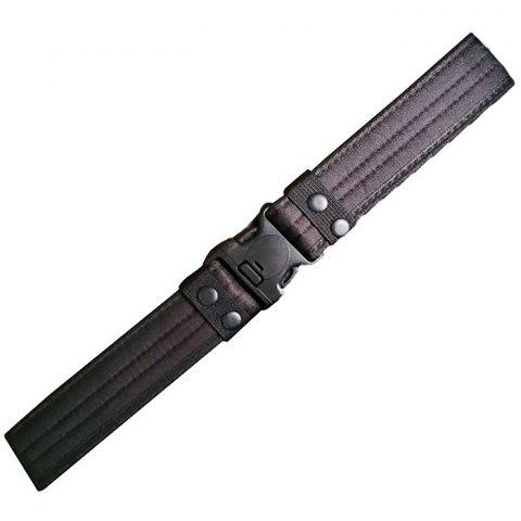 Camouflage Outdoor Security Training Canvas Belt 120cm - BLACK