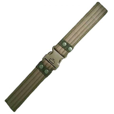 Camouflage Outdoor Security Training Canvas Belt 120cm - ARMY GREEN
