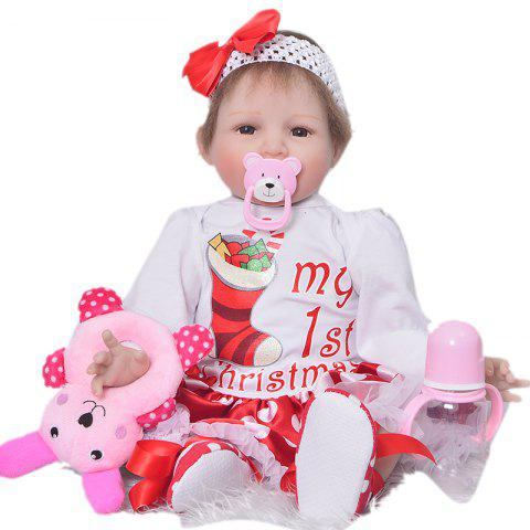 KEIUMI 22 pouces Rebirth Baby Doll Toy Gift - Rouge