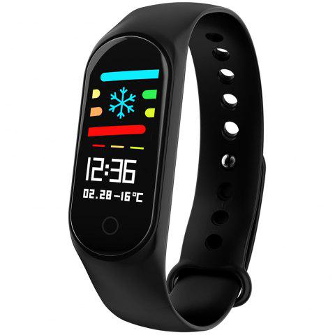 M3 0.96 inch Sports Smart Bracelet Bluetooth 4.0 IP67 Waterproof Call / Message Reminder Heart Rate Monitor Blood Pressure Functions - BLACK