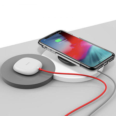 Baseus Suction Cup Wireless Charger Fast Charging for iPhone 8 / X - WHITE