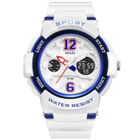 Colorful Cool Sports Hip Hop Multi-function Watch - BLUE