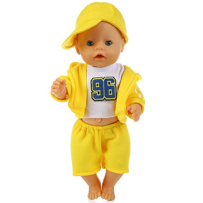 Simulation Doll Accessories No.96 Sportswear Suit - YELLOW