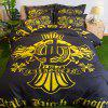 1.2m Simple Fresh The Rainforest Bedding 3pcs - BLACK