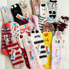 Embroidered Three-dimensional Home Cartoon Adult Fuzzy Socks - multicolor A GREY DOG