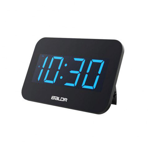 BALDR Large Font Decorative Electronic Clock - BLACK US PLUG (2-PIN)