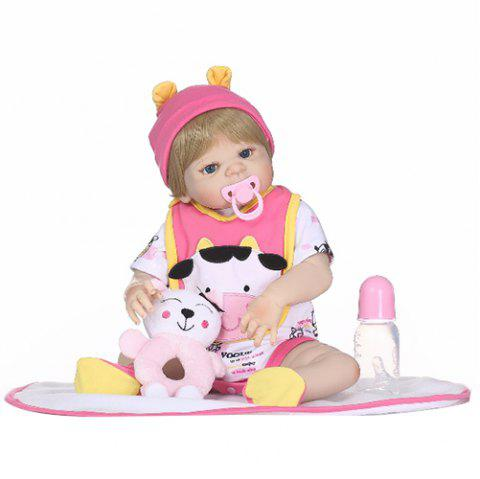 NPK Full Silicone Rebirth Doll Toy - ROSE RED