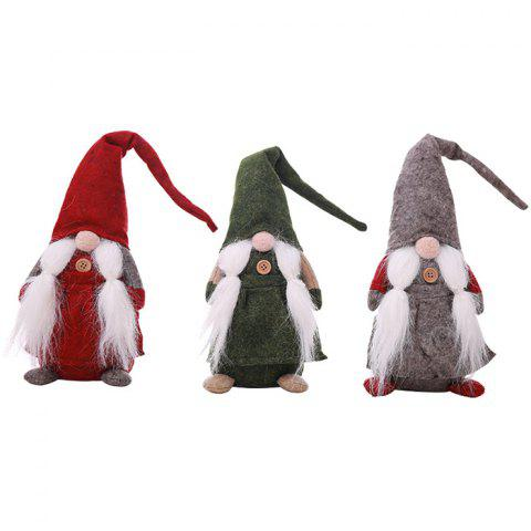 Christmas Decorations Faceless Old Man Dolls - RED