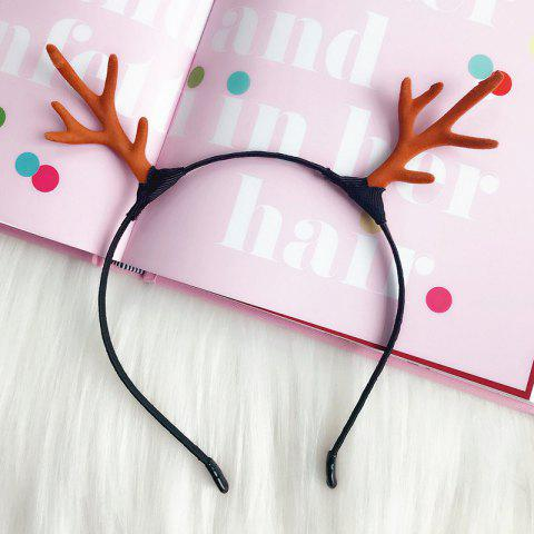 Christmas Bride Photo Hairpin Ornament Antler Decorative Hair Ring - RUBY RED