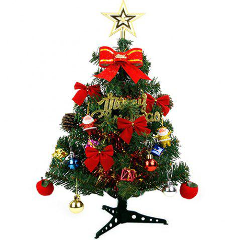 Hardcover Christmas Tree with Decorations - DEEP GREEN H:60CM