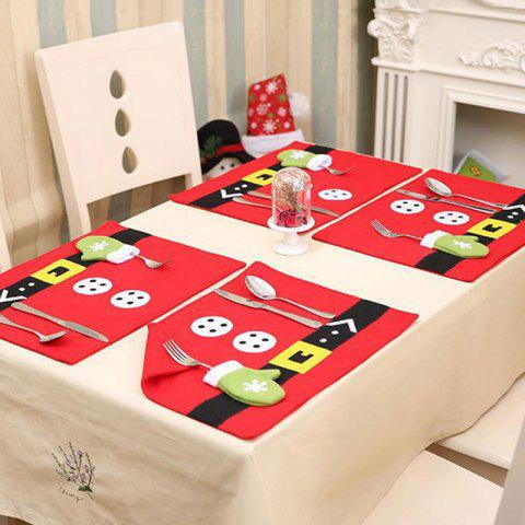 Christmas Home Decoration Table Placemat - RED
