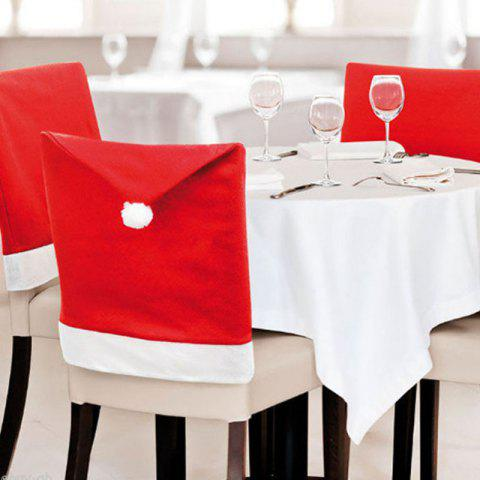 Christmas Hat Pattern Big Chair Cover 2PCS - RED