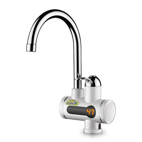 Instant Digital Electric Kitchen Special Water Faucet 3KW - WHITE WATER FROM THE SIDE