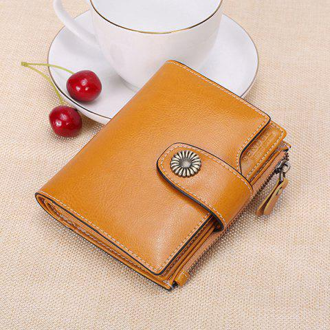 SENDEFN 5206 Short Fashion Multi-function Money Bag Case - GOLDENROD