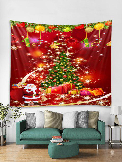 Father Christmas Tree Design Tapestry Art Decoration - RED W79 X L59 INCH