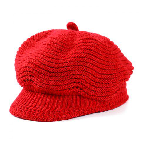 Fashion Knit Beret - RED