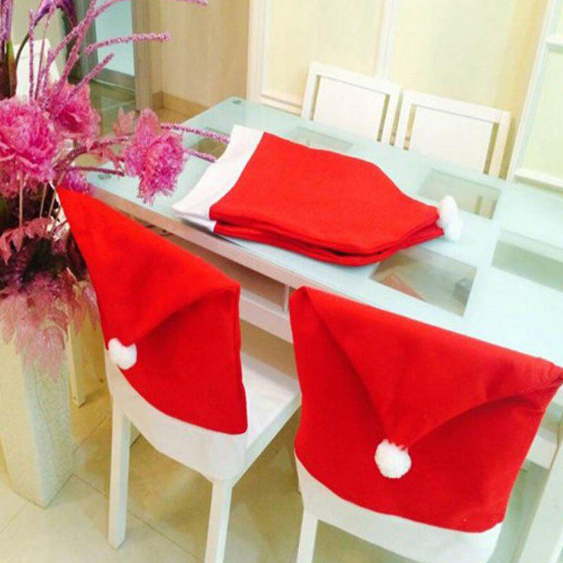 Christmas Hat Pattern Big Chair Cover 1PC - RED