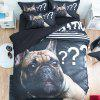 Realistic Cartoon Map Bedding 1.5m 4pcs - multicolor D