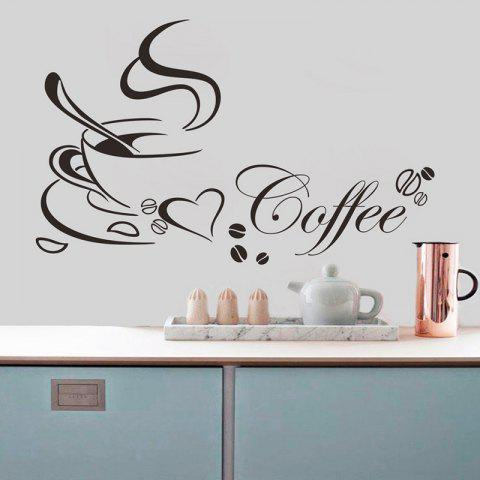 Waterproof Removable Background Carved Wall Sticker - BLACK