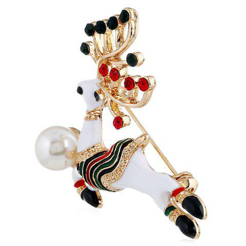 Fashion Animal Cartoon Cute Christmas Brooch - multicolor K
