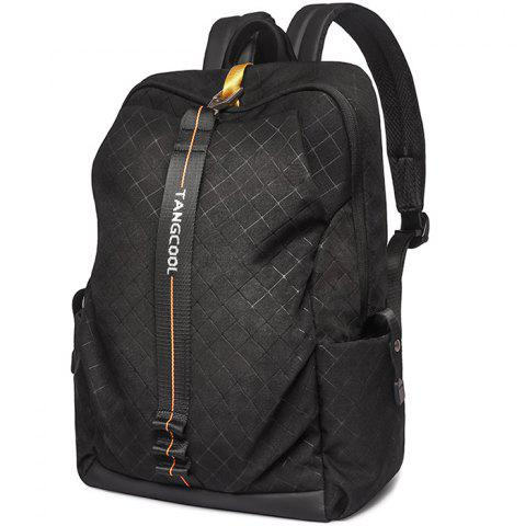 Tangcool 8007 Men's Fashion Trend Student Camouflage Backpack - BLACK