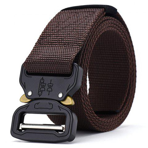 Stylish Multi-function Nylon Outdoor Training Belt 115cm - SEPIA