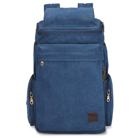Men's Backpack Simple Leisure Travel Outdoor Large Capacity - BLUE